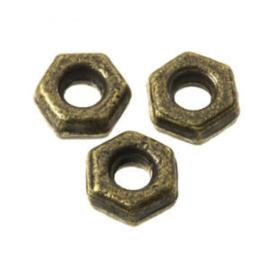 10 x Metalen Kraal 4 mm Brons