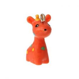 2 x Kinderkralen Bedel Giraffe oranje 28x21 mm