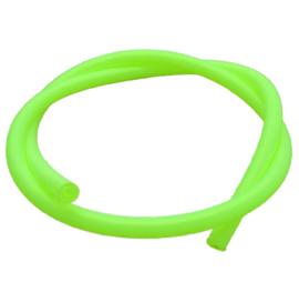 100 cm hol Rubber DQ koord 5mm per meter geknipt fluor groen