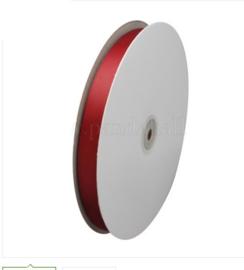 2 meter lint van ribbel stof bordeaux rood 10mm
