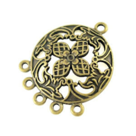 2x Kroonluchter Ornament Metaal Brons 29,9x22,9 mm