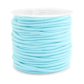 1 meterGekleurd elastisch draad 2.5mm Aqua blue