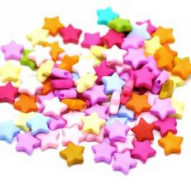 20 x Kinderkralen Acryl Mix Sterren 9 mm