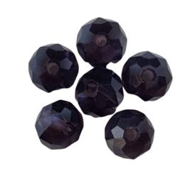 10x facetkralen donut  met olieglans 6x4 mm gat: 1 mm
