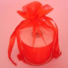 1 x luxe organza zakje, kies uit 6 verschillende maten - Red