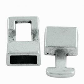 2 x  Basic Metalen Slot Antiek Zilver 7x3 mm