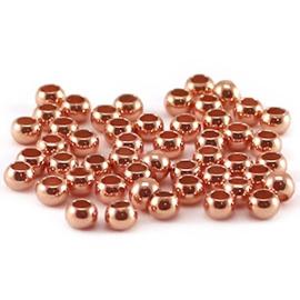 150 x DQ knijpkralen 3 mm Rose gold plated