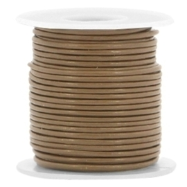 20 cm DQ leer rond 1 mm Brown