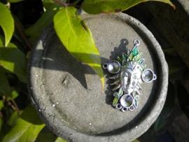 Schitterende metalen ornament 50mm