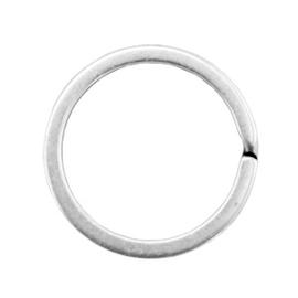 3 x Onderdelen DQ metaal sleutelhanger ring 30mm Antiek zilver