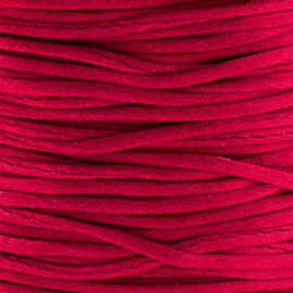 2 meter Macrame Satijndraad 1.0 Ruby Red