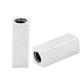 2 x Kralen DQ metaal tube kraal buis kraal rechthoek Antiek zilver (nikkelvrij)