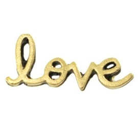 10 x Inspirational words Love Antiek goud 20x8 mm