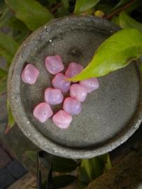 10 stuks mooie glaskralen 12mm roze