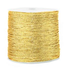 1 rol 90 meter macramé draad metallic 0.5mm Cornsilk gold (kies voor pakketpost)