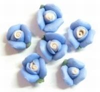 Porcelijn Roosje 8 mm blauw