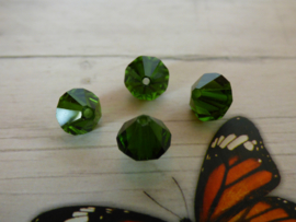 10 x Preciosa Kristal Bicone 8,5mm  gat: 1mm