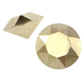 2 x Swarovski Elements SS24 puntsteen (5.2mm) Crystal metallic light