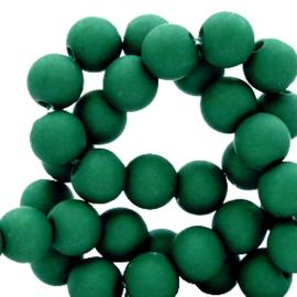 50 x 4 mm acryl kralen matt Fir green
