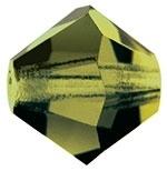 10 x Preciosa Kristal Bicone kraal 8 mm Olijf