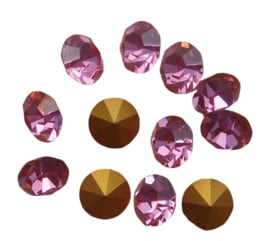 10 x Swarovski puntsteen SS24 Gold Foiled Rose 5,2mm