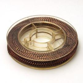 1 rolletje gevlochten koord Coconut brown 0,6mm, c.a. 10m per rol