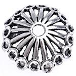 2 x Prachtig mooie grote Tibetaans zilveren kralenkap 19,5 x 6mm gat 3mm
