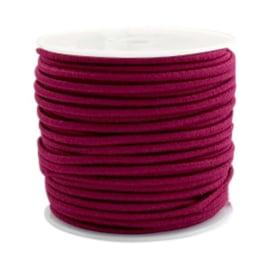 1 meter Gekleurd elastisch draad 2.5mm Fuchsia