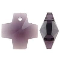 Prachtige kristal facet Hanger kruis 14 x 14 x 8mm gat 1mm Amethyst
