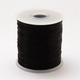 5 meter gekleurd elastiek draad 0,8mm black