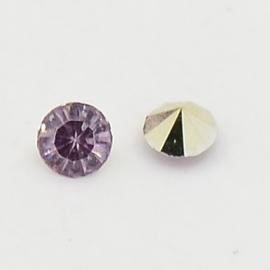 5 x Puntsteen Preciosa voor puntsteen SS29 c.a. 6mm Lavendel