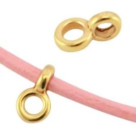 2 x DQ metaal hanger met oog Ø2.2mm Goud