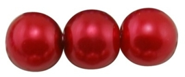 20 x prachtige glasparel kleur: Crimson 12mm