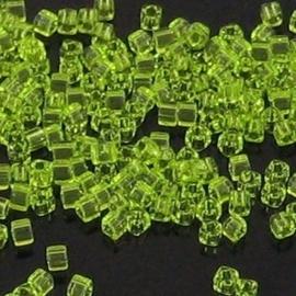 10 gram Kubus 1,8 mm Miyuki Light Green Transparant