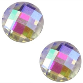 2 x Basic cabochon 10mm Zilver diamond