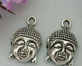 Tibetaans zilveren bedel Buddha 22x15mm