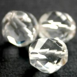 10 x Top helix vorm 10 mm facetkraal Crystal