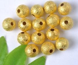 15 stuks Stardust kralen goudkleur 6mm