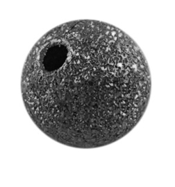 10 stuks Stardust kraal zwart  8mm