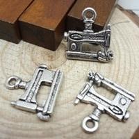 Tibetaans zilveren naaimachine 14 x 19 x 3mm