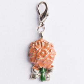 Be Charmed bos bloemen met karabijnsluiting zilver met een rhodium laag (nikkelvrij)