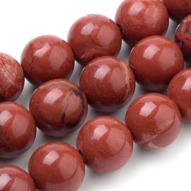 10 x half edelsteen kraal natuurlijke Rode jaspis Kralen 6 mm