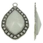 Prachtige Tibetaans zilveren hanger voor bijvoorbeeld een sjaal of ketting 50 x 74 x 13mm, Gat c.a: 6mm