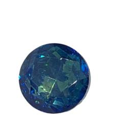 2x Precosia punt kristal Rond 11 mm Blauw