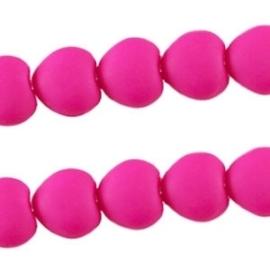 10 stuks Acryl kralen hart 10mm fuchsia pink