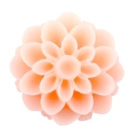 2 x Dahlia bloem kralen 14 mm matt Peach orange