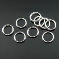 100 ringetjes 8 x 0,8mm nikkelkleur 0,7mm dik