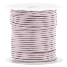 50 cm DQ leer rond 1 mm Lilac purple