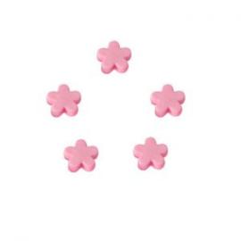 10 x Kinderkralen acryl bloem Roze 12 mm