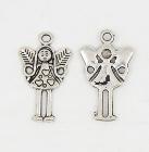 4 x Prachtige Tibetaans zilveren Engel hanger 25 x 15 x 2mm Gat 2mm
